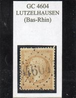 Bas-Rhin - N° 21 Obl GC 4604 Lutzelhausen (bureau Rare!) - 1862 Napoleon III