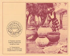 Bophuthatswana 1979 Sorghum Beer Set Collectors Sheet First Day Of Issue - Bophuthatswana
