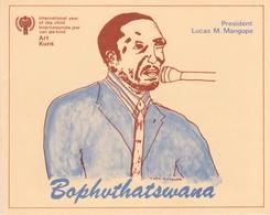 Bophuthatswana 1979 International Year Of The Child Set Collectors Sheet First Day Of Issue - Bophuthatswana
