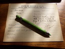 Armée Secrète Maquis Etats De Service Maquisard B Youkke Prisonnier Soviétique évadé Tué Combat Fays Manhay 1944 - 1939-45