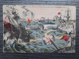 MILITARIA GUERRE 1914 1918 Flotte Anglaise Coule 3 Croiseurs Heligoland REFA - Weltkrieg 1914-18