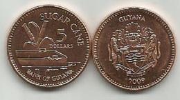 Guyana 5 Dollars 2009. High Grade - Guyana