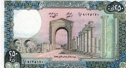Billet Du Liban De 250 Livre Neuf (1978 - 88 ) - Lebanon
