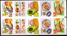 2016 Sweden -Nordic Food -MH/Booklet - With Cylinder Number 1 - S.adhesive MNH** MI 3104-3108 Suchi, Cackes, Sandwich - Suède