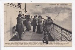 CPA AVIATION Comte De Lambert -Port Aviation -Tour Eiffel -Juvisy 18 Oct 1909 - Airmen, Fliers