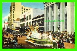 TAMPA, FL - GASPARILLA PARADE, DOWNTOWN - WELL ANIMATED - HILLSBORO NEWS CO - - Tampa