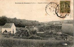28. CPA. SAINT EVROULT, Près Chaudon, Chapelle Et Ruines.  1918. - France