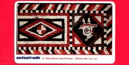 VIACARD - Serie Arte 1998 - Lucus Feroniae - Mosaico Del I Set A.C. - Tessera N. 320 - 50.000 - Pub - 03.1998 - Italia