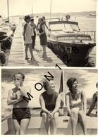 LE LAVANDOU - EN MISSION EXPOSITION EAU 1971 - BATEAU SAUVETAGE MARITIME SNS 37 - 2 PHOTOS 12,5x9 Cms - Plaatsen