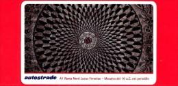 VIACARD - Serie Arte 1998 - Lucus Feroniae - Mosaico Del 10 A.C. - Tessera N. 322 - 50.000 - Pub - 03.1998 - Italia
