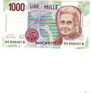 Billet De L'Italie De 1000 Lire Le 3 Octobre 1990 En S U P-signature Ciampi Et Speziali - - [ 2] 1946-… : République