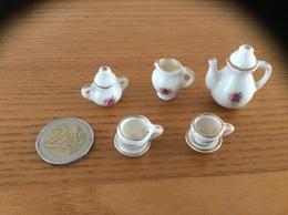 Service à Thé Miniature Porcelaine (9 Pièces) - Mobilier
