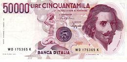 Billet De L'Italie De 50.000 Lire Le 6 Février 1984 En T T B - Signature Ciampi Et Stevali - Petite Déchirure En Bas Au - [ 2] 1946-… : Repubblica