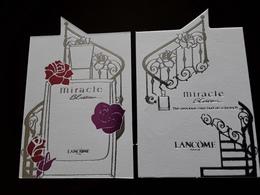 "LANCÔME  "" Miracle Blosson ""   Carte Chinoise  R/V !! - Modernas (desde 1961)"
