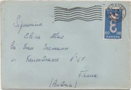 Europa Cept 1958 £. 60 Su Busta Con Annullo Firenze 26.11.1958 - 6. 1946-.. Repubblica