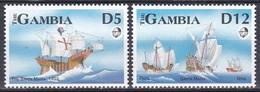 Gambia 1993 Geschichte History Entdeckungen Discovery Kolumbus Columbus Schiffe Ships Nina Pinta, Mi. 1464-5 ** - Gambia (1965-...)