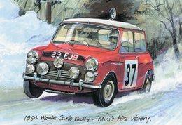 Monte-Carlo Rally 1964 - Mini Cooper S -  Rauno Aaltonen/Henry Liddon  -  Art Card - Rallyes