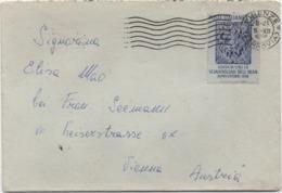 Visita Scià Di Persia 1958 £. 60 Su Busta Con Annullo Firenze 05.12.1958 - 6. 1946-.. Repubblica