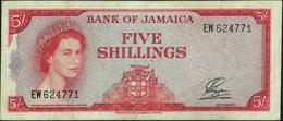 JAMAICA - 5/- Shillings L.1960 (1964) Fine+ P.51 Aa - Jamaica