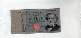 Billet De L'Italie De 1000 Lire 1969 En B - - [ 2] 1946-… : République