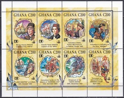 Ghana 1992 Geschichte History Entdeckungen Discovery Kolumbus Columbus Schiffe Ships Pinzon Indianer, Mi. 1712-9 ** - Ghana (1957-...)