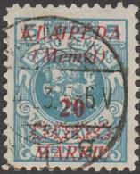 Memel 1923 Michel 136, Cote 12 €. Superbe - Memel (Klaïpeda)