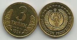 Uzbekistan 3 Tiyin 1994. High Grade - Uzbekistan