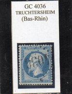 Bas-Rhin - N° 22 Obl GC 4036 Truchtersheim - 1862 Napoléon III
