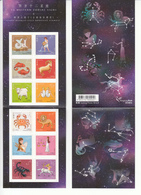 Hong Kong 2012, 12 Western Zodiac Signs, 1x Stamp Booklet MNH**, Self Adhesvie - Astrology