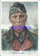 111232 GERMANY ART SIGNED B. BILLRICH MILITARY GENERAL ROMMEL POSTAL POSTCARD - Non Classés