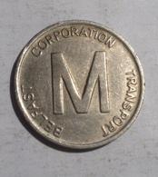 TOKEN GETTONE JETON  TRANSIT IRLANDA BELFAST CORPORATION TRANSPORT - Monetari/ Di Necessità