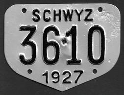 Velonummer Schwyz SZ 27 - Number Plates