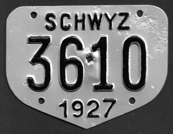 Velonummer Schwyz SZ 27 - Plaques D'immatriculation
