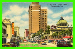 JACKSONVILLE, FL - CITY HALL, FORSYTH STREET - ANIMATED OLD CARS - DUVAL NEWS CO - - Jacksonville