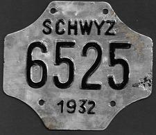 Velonummer Schwyz SZ 32 - Plaques D'immatriculation