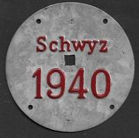 Velonummer Schwyz SZ 40 - Plaques D'immatriculation