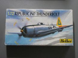 Maquette Plastique - Avion Republic P47 Thunderbolt Au 1/72 - Heller N°80267 - Aerei