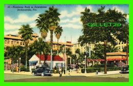 JACKSONVILLE, FL - HEMMING PARK IN DOWNTOWN - ANIMATED OLD CARS - DUVAL NEWS CO - - Jacksonville