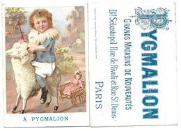 Chromo A PYGMALION, Léopold Verger - Petite Fille à Cheval Sur Mouton, Jouet, Poupée - Unclassified