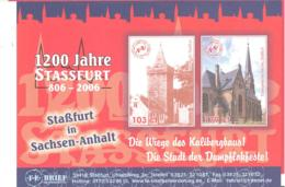 F.E. Brief Beforderung  Sonderkarte 1200 Jahre Stassfurt - [7] Repubblica Federale