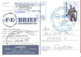 F.E. Brief Beforderung  Sonderkarte 1. Salzphila  Mit SST - [7] République Fédérale