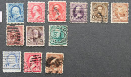 USA - ETATS UNIS D AMERIQUE - 1894  - YT 97 à 104 + 110 + 111 + 114 - PRESIDENTS - 1847-99 Unionsausgaben