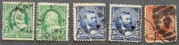 USA - ETATS UNIS D AMERIQUE - 1898  - YT 123 + 125 + 127 - PRESIDENTS - 1847-99 Unionsausgaben