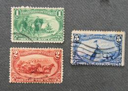 USA - ETATS UNIS D AMERIQUE - 1898  - YT 129 + 130 + 132 - EXPOSITION D'OMAHA - Gebraucht