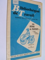 SBT 141 1963 Maquettes De FARDIER DE CUGNOT GRAND BI DRAISIENNE - Andere Verzamelingen
