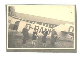 ANTWERPEN / ANVERS 1928 - Voyage En Avion, Baptème De L'air ? - Photo (9 X 13 Cm) Collée Sur Carton  (b249) - Aviation