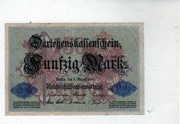Billet Allemand De 50 Mark Le 5-1 Août-1914 - 7 Chiffres En T T B - - [ 2] 1871-1918 : Duitse Rijk