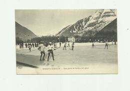 SPORT - D'HIVER - Une Partie De Hockey Sur Glace Animé Bon état - Sports D'hiver