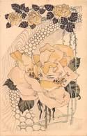 Illustrateur Carte Surréaliste - Femme Fleurs- Un Regard Dans Une Rose Au Ton Jaune. - Illustrateurs & Photographes