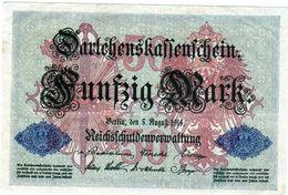 Billet Allemand De 50 Mark Le 5-1 Août-1914 - 7 Chiffres En T T B - [ 2] 1871-1918 : Duitse Rijk
